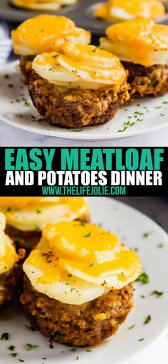 This Easy Meatloaf and Potatoes Dinner gives you meat and potatoes all in one delicious shot! And best of all, dinner's on the table in just around 30 minutes! via dinner meatloaf Easy Meatloaf and Potatoes Dinner Good Meatloaf Recipe, Meat Loaf Recipe Easy, Easy Meatloaf, Meatloaf Recipes, Meat And Potatoes Recipes, Easy Potato Recipes, Meat Recipes, Cooking Recipes, Meat Appetizers