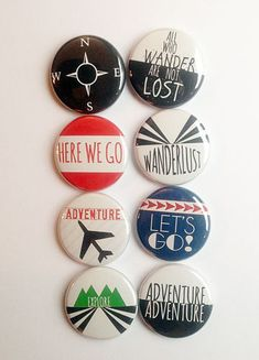 Wanderlust Flair by aflairforbuttons on Etsy #wanderlust #aflairforbuttons