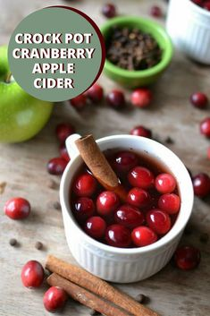 There is something so wonderful about cozying up with a warm mug of apple cider with a fire roaring and leaves (or snow!) falling outside. And this crock pot spiced cranberry apple cider recipe is perfect for holiday guests or a quiet night in with your family.Warm and delicious, throw the ingredients into a slow cooker in the morning and sip all day to your heart's delight. #crockpot #applecider #homemadecider