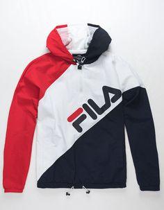 FILA Harrison Half Zip Mens Windbreaker Jacket - REWBL - 314370948 | Tillys