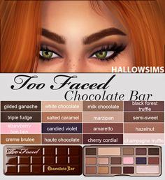 HallowSims : Too Faced Chocolate Bar.