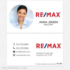 Remax business cards, RE/MAX business cards, Remax cards, realtor business cards, realty business cards, real estate business cards, broker business cards, simple modern real estate business cards, broker cards