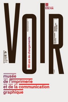 Lézard graphique: Musée of printing and graphic communication (Lyon, France) Typo Design, Graphic Design Posters, Graphic Design Typography, Book Design, Plan Design, Graphic Designers, Typography Layout, Typography Letters, Lettering