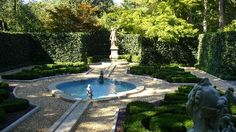 French Style Gardens | French garden with English Ivy - Picture of Hillwood Museum & Gardens ...