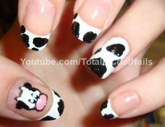 cow nail design photos - Google Search