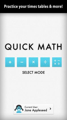 Sakura Quick Math is perfect for students in grades 3, 4, 5 & 6 or those people who want to improve their all round mathematics ability. Multiple difficulty levels allow the app to grow with your skills.  $.99