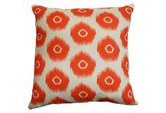 Geo Ikat 20x20 Pillow, Orange on OneKingsLane.com