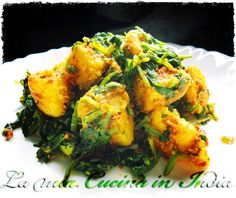 Curry di patate dolci e spinaci