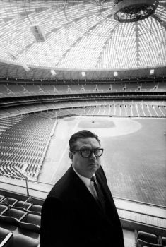 Judge Roy Hofheinz, owner of the Houston Astros, standing in the just completed Houston Astrodome. Photo: Donald Uhrbrock, Getty Images / Donald Uhrbrock