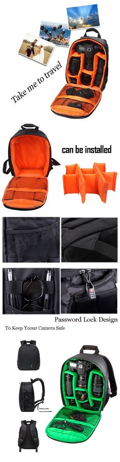 $23.24 Outdoor Nylon Digital Camera Bag Backpack For Cannon Nikon