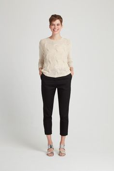 Add texture with this dreamy cable knit. 100% cotton, hand knitted in Nepal.