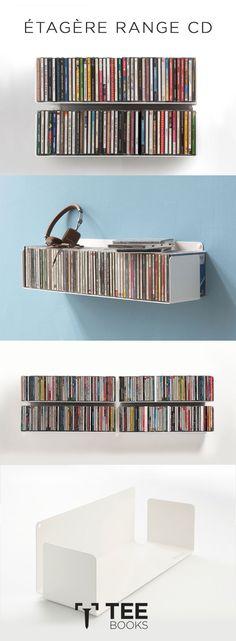 Exposez vos cd d'une manière simple, originale et design sur les étagères pour Cd 15 cm de profondeur de Teebooks. Simple à installer. Une fois vos Cd posés sur les étagères, elles deviennent invisibles. Essayez et vous verrez !