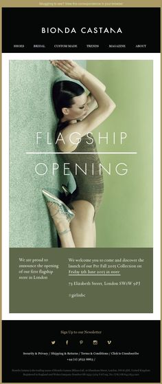 Exemple emailing Bionda castana dans Mode femme, souplesse, allongee, pose…