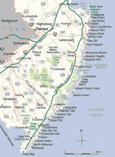 NJ Man Puts Rednecks Hippies And Misguided Tourists On The Map - New jersey on a map of the usa