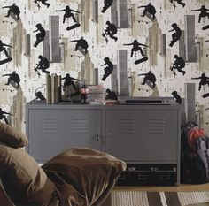 15% off all York Wallpaper through December 3rd, including York kids with this great print for a boys room.