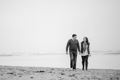 Northumberland Pre Wedding Shoot - Northumberland pre wedding shoot young couple on Alnmouth Beach