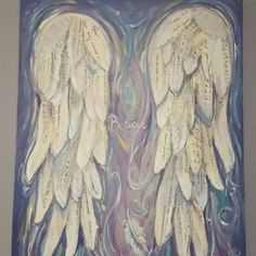 Items similar to Angel Wings Painting Custom order Angel Wings Art Painting inches cm on Etsy Angel Wings Art, Angel Wings Painting, Angel Wings Wall Decor, Angel Art, Angel Wings Drawing, Etsy App, Mixed Media Painting, Love Painting, Just Love