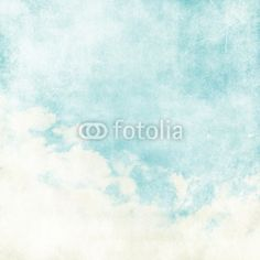 Wall Mural water color like cloud on old paper texture - sky • PIXERSIZE.com