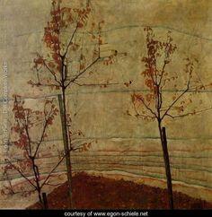 Autumn Trees - Egon Schiele - www.egon-schiele.net