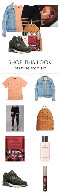 """Untitled #1973"" by therealslimm ❤ liked on Polyvore featuring Stussy, MCM, Nannette de Gaspé, Chanel and NIKE"