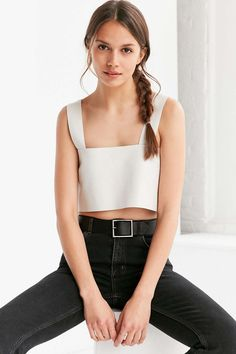 Silence + Noise Jensen Leather Tank Top - Urban Outfitters