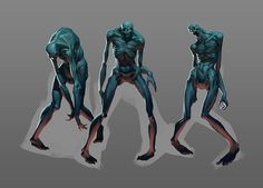 zombie by Roman Semenenko on ArtStation. Zombie Pose, Zombie Art, Sketch Poses, Drawing Poses, Drawing Ideas, Character Inspiration, Character Art, Character Design, Character Reference