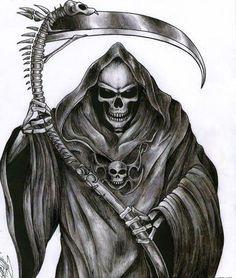 23 ideas tattoo music skull grim reaper for 2019 Grim Reaper Art, Grim Reaper Tattoo, Don't Fear The Reaper, Death Reaper, Skull Tattoo Design, Skull Tattoos, Tattoo Designs, Arte Horror, Horror Art