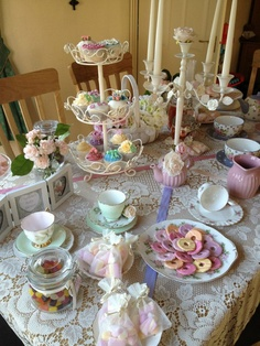 A vintage tea party!  http://www.rosesribbons.com