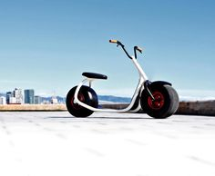 The Scrooser is a new urban electric scooter being developed in Germany that you can ride on the sidewalk. The scooter works like a regular push scooter, but when you push off the ground, the engine e...