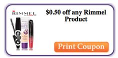 Coupon $0.50 off any Rimmel Product - http://azfreebies.net/coupon-0-50-rimmel-product/