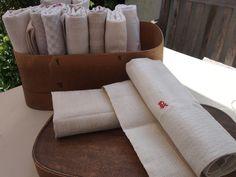 Vintage Leinen Handtücher  von AIMEE'S VOYAGES VINTAGE auf DaWanda.com