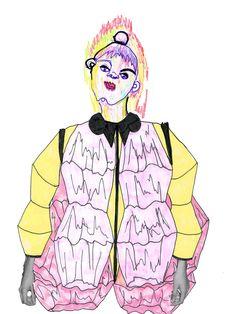 illustration for sportswear project | Rosie Newton