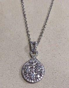NEW LADIES GREGG RUTH 18K WHITE GOLD 1.29ctw DIAMOND PENDANT NECKLACE - http://designerjewelrygalleria.com/gregg-ruth/new-ladies-gregg-ruth-18k-white-gold-1-29ctw-diamond-pendant-necklace-2/