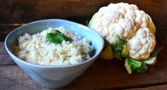 Cauliflower Rice. -- This side dish is good if you're looking for something different. I don't necessarily agree with the statement I've heard from many that you cannot tell the difference between it & real rice.
