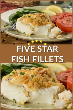 These fish fillets are five-star special, 'cause they're crispy-coated and baked to perfection!