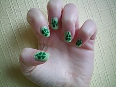 Nail art Shamrock Saint Patrick's day