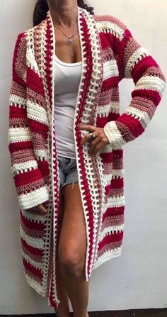 Diy Crafts - Related posts:White short dres for end of AugustNice simple hair and styleStyle challenge is cute Crochet Cardigan Pattern, Crochet Jacket, Crochet Poncho, Cute Crochet, Beautiful Crochet, Crochet Patterns, Crochet Clothes, Pulls, Clothing Patterns