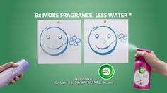AbanCommercials: Air Wick TV Commercial  • Air Wick advertsiment  • PURE: Full of Fragrance, Not Water • Air Wick PURE: Full of Fragrance, Not Water TV commercial • Water-based aerosols can leave your home feeling wet. But new Air Wick PURE is full of fragrance, not water. So you can enjoy fresh fragrance without the wet mess.0:00 traditional aerosols contain a lot of0:01 water which falls down in foils0:03 experience new era cure has nine times0:07 more fragrance and less water…