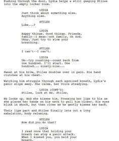 THE SCRIPT FROM 3x11 OML THIS IS ONE OF THE BEST THINGS THAT HAS EVER HAPPENED TO ME