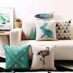 cushion design on sale at reasonable prices, buy Nordic Design Cotton Linen Pillowcase Simple Geometry Cushions Decorative Pillow Home Decor Sofa Throw Pillow Cushions from mobile site on Aliexpress Now! Cheap Throw Pillows, Sofa Throw Pillows, Cushions On Sofa, Inexpensive Home Decor, Cheap Home Decor, Diy Home Decor, Modern Pillows, Decorative Pillows, White Cushion Covers