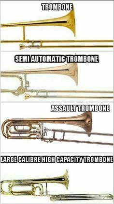 Trombones....
