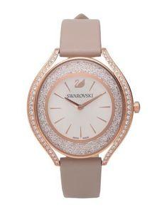 Swarovski Wrist Watch In Dove Grey Dove Grey, Rose Gold Plates, Michael Kors Watch, Swarovski Crystals, Watches, Steel Water, Leather Case, Accessories, Metallic