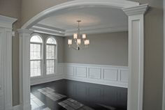 Custom Floor Plan APS Dining Room - traditional - dining room - chicago - King's Court Builders, Inc. SW Anew Grey