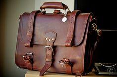 I want this!!! Large Chestnut Saddleback Briefcase by Mark Allen G Garzon, via Flickr