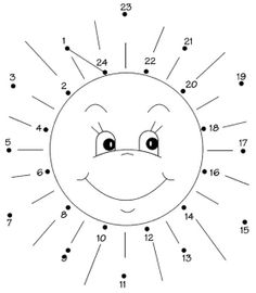 Connect the dots on the sun. Montessori Math, Preschool Curriculum, Kindergarten Math, Kids Activity Books, Learning Activities, Activities For Kids, Sistema Solar, Bee Crafts For Kids, Educational Games For Kids