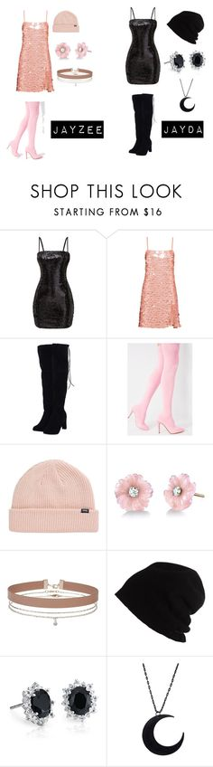 """""""Mine and my sisters stage outfit"""" by jayddumo on Polyvore featuring Miu Miu, Cape Robbin, Vans, Irene Neuwirth, Miss Selfridge, SCHA and Blue Nile"""