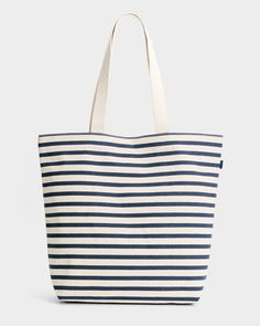Baggu Canvas Shopper, sailor stripe
