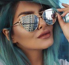 JIE.B New Cat Eye Sunglasses Women Brand Designer Vintage Twin-Beams Men Polaroid Lens Sun Glasses Oculos De Sol Feminino Gafas