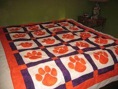 Clemson Tiger Paw Quilt