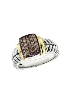 Effy 925 Cognac Diamond Ring, .30 TCW